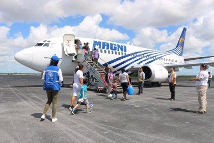 Honduras.- Más de un centenar de migrantes regresan a Honduras desde México con la ayuda de la ONU