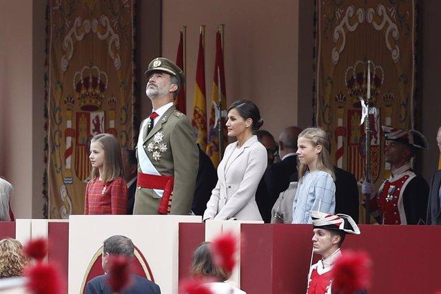 Los Reyes presidirán este sábado el desfile del 12 de octubre, a menos de un mes
