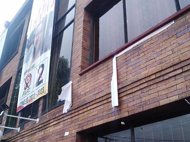 Ataque a la sede de la FARC en Bogotá