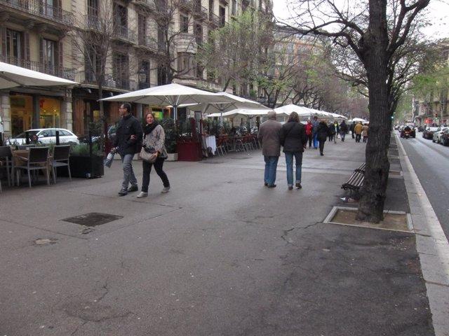 Terrasses en la Rambla de Catalunya