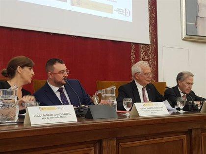 Borrell y el presidente asturiano homenajean a Fernando Morán, que negoció la entrada de España en la UE