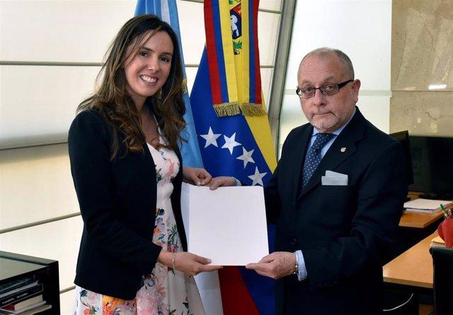 Elisa Trotta y Jorge Faurie