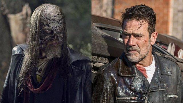 Beta y Negan en The Walking Dead