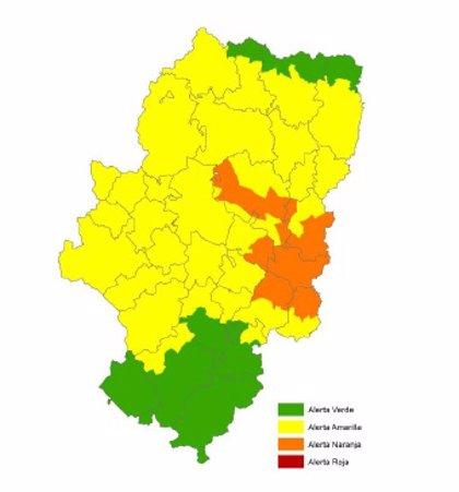 Alerta naranja por riesgo de incendios forestales en Bajo Ebro forestal y Muela de Alcubierre
