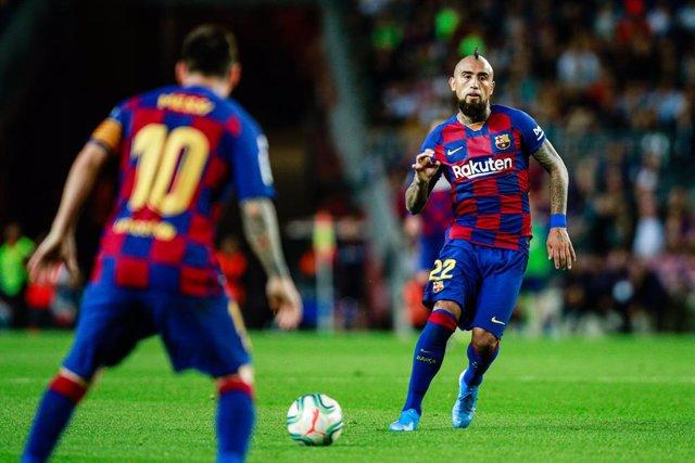 """Fútbol.- Arturo Vidal: """"Mi función en el Barça es diferente a la del resto de ce"""