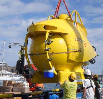 El submarino 'Ictineu 3' estudiará el talud submarino del banco de ensayos de Taliarte