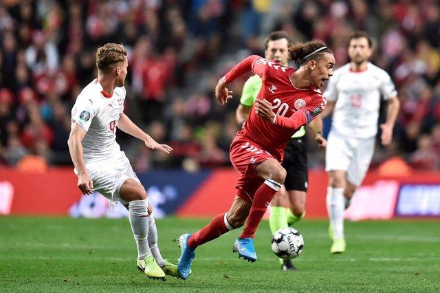 Fútbol/Eurocopa.- (Grupo D) Dinamarca vence a Suiza e iguala el liderato irlandé