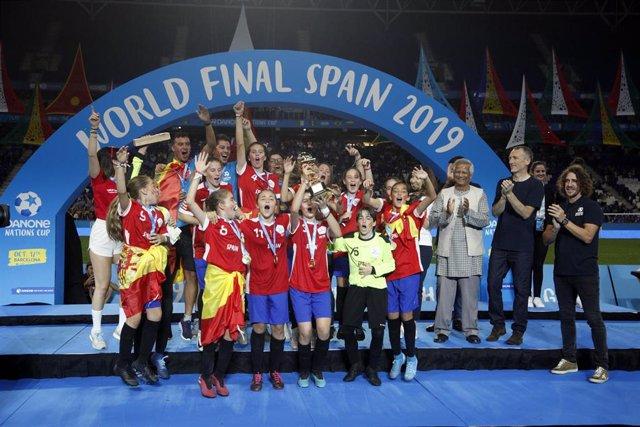 España, campeona del mundo alevín en el Mundial femenino