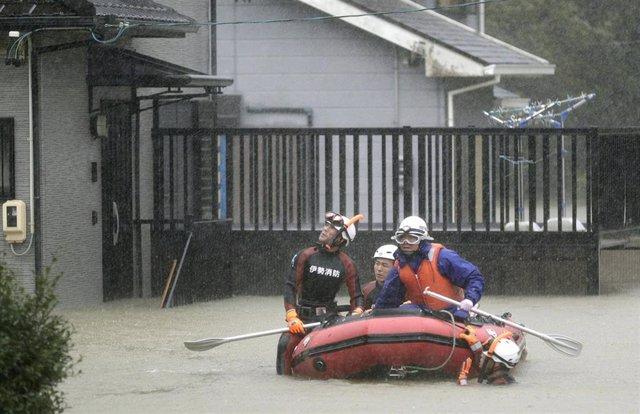 Inundaciones en Ise por el tifón 'Hagibis'