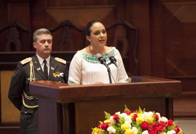 La diputada y expresidenta de la Asamblea de Ecuador Gabriela Rivadeneira