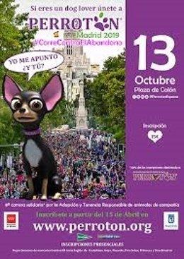 Cartel promocional de la carrera urbana 'Perrotón'.