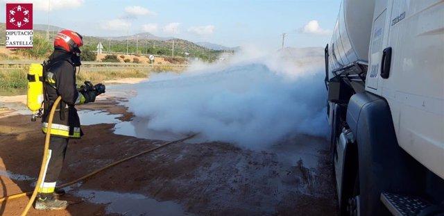 Fuga de metano líquido en una estación de servicio