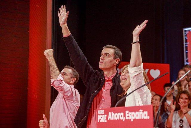 Acte de la precampanya socialista a Alcorcón (Madrid).