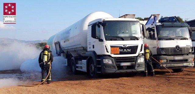 Fuga de metano en un camión en La Llosa