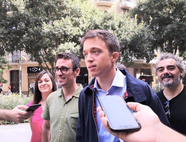 Juan Antonio Geraldes e Íñigo Errejón (Más País) presentan la candidatura a las elecciones generales en Barcelona
