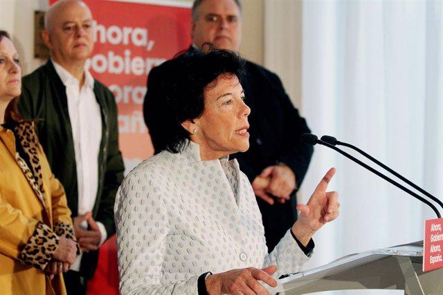 La ministra d'Educació i Portaveu del Govern en funcions, Isabel Celaá.