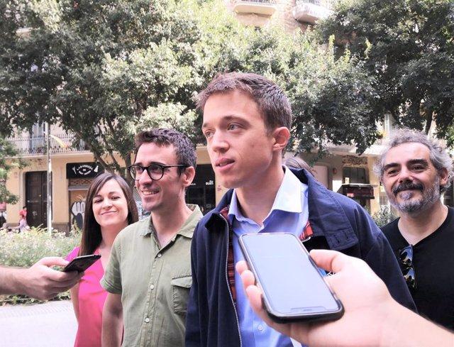 Juan Antonio Geraldes i Íñigo Errejón (Més País) presenten la candidatura a les eleccions generals a Barcelona