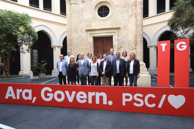 Meritxell Batet presenta la candidatura del PSC per Tarragona a les eleccions generals, encapçalada per Joan Ruiz
