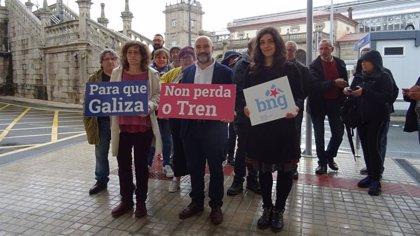 El BNG llevará al Congreso una propuesta de servicio gallego de tren con líneas de cercanías para las ciudades