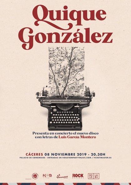 Quique González actuará el 8 de noviembre en Cáceres para presentar su álbum 'Las palabras vividas'