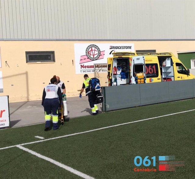 Partido fútbol Colindres