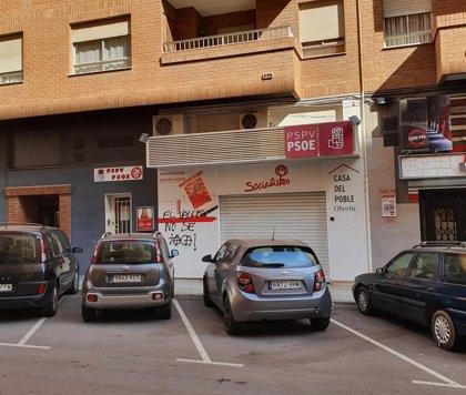 El PSPV denuncia pintadas con el mensaje 'El valle no se toca' en sedes de la provincia de Castellón