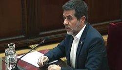 Jordi Sànchez contrasta el secretisme sobre les urnes de l'1-O amb les filtracions de la sentència (SEÑAL DE TV DEL TRIBUNAL SUPREMO - Archivo)