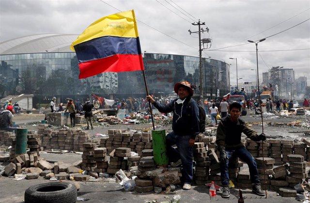 Protestas contra Lenín Moreno en Quito, Ecuador