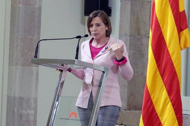La presidenta del Parlament Carme Forcadell