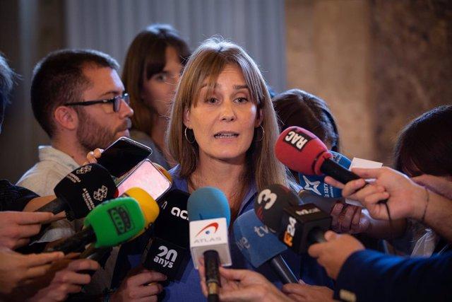 La presidenta de CatECP (Catalunya En Comú Podem) , Jéssica Albiach