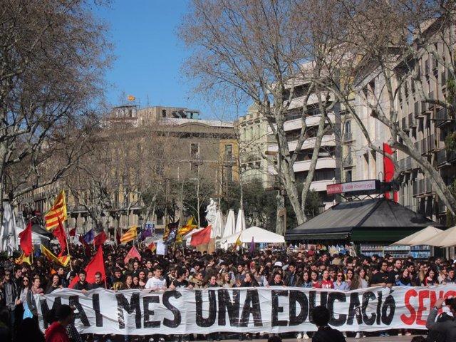 Manifestació de la Sepc contra el 3+2