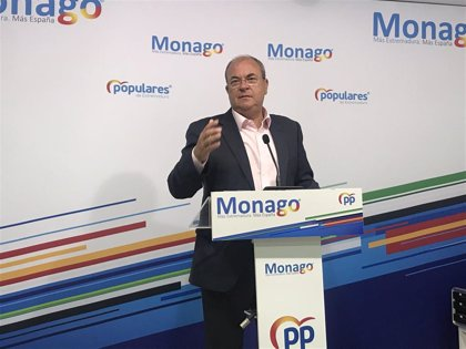 """Monago critica que la marcha de la región """"se ha frenado en seco"""" y considera necesario un """"plan de rescate"""" empresarial"""