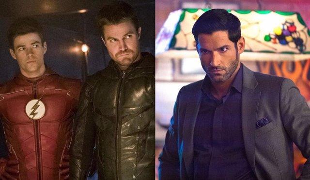Arrow y Flash junto a Tom Ellis