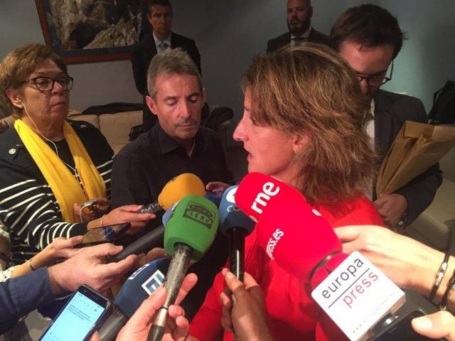La ministra para la Transición Ecológica, Teresa Ribera, en Oviedo