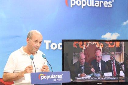 """PP ve """"ridículo"""" que Cs nacional ponga como ejemplo de """"enchufismo"""" un caso en Melilla donde Cs tiene la Presidencia"""