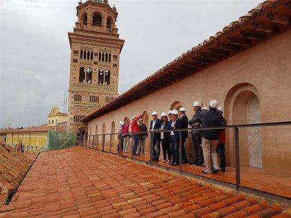 La torre de la Catedral de Teruel recupera su belleza tras las labores de restauración
