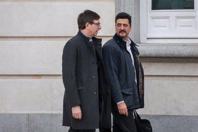 L'exconseller de Justícia de la Generalitat Carles Mundó a la sortida del Tribunal Suprem en el tercer dia del judici del procés