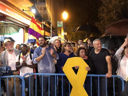 Más de 1.000 personas se concentran en Palma para protestar contra de la sentencia del 'Procés'