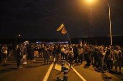 Un tall a l'AP-7 tanca la primera jornada de mobilitzacions per la sentència a Tarragona (ACN)