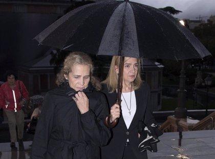 Las Infantas Elena y Cristina despiden al hermano de Javier López Madrid entre gente de las finanzas y la aristocracia