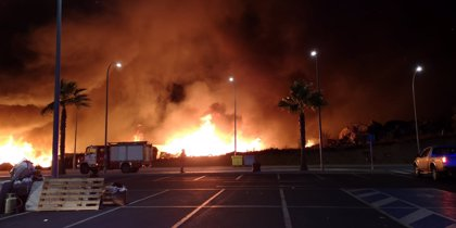Segundo incendio en 24 horas en el mismo poblado chabolista de Lepe (Huelva) con 145 desalojados