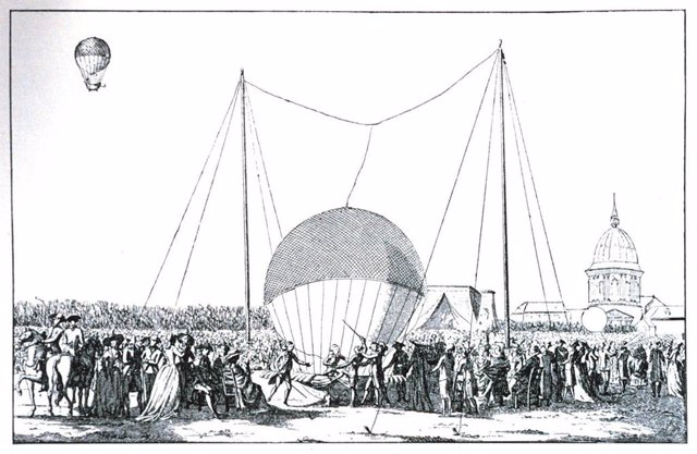 Se cumplen 236 años de la primera ascensión de un globo tripulado