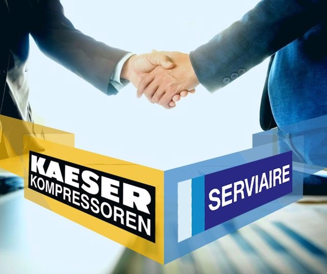 SERVIAIRE llega a un acuerdo con KAESER Kompressoren