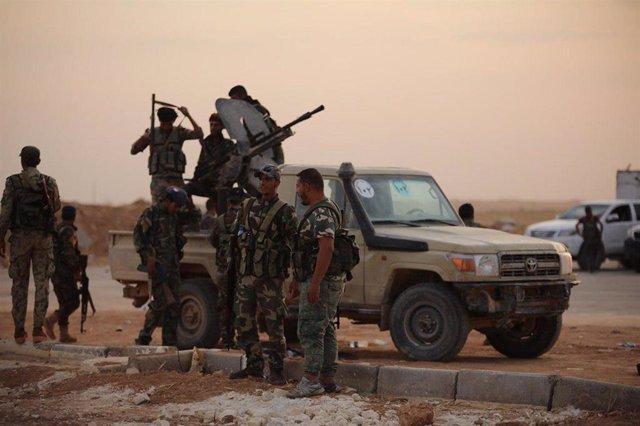 Soldados sirios en el noreste