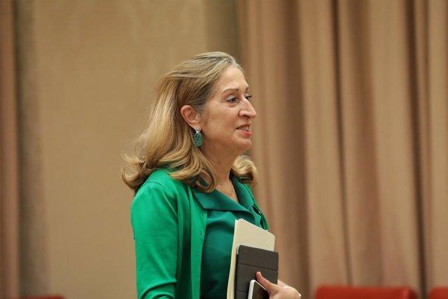 La vicepresidenta tercera del Congrés, Ana Pastor, en la reunió de la Diputació Permanent del Congrés