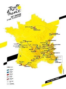 Recorrido del Tour de Francia 2020