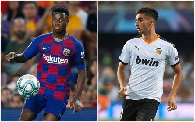 Fútbol.- Ansu Fati y Ferrán Torres, entre los 20 finalistas del 'Golden Boy'