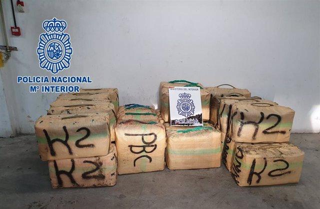 Fardos de hachís intervenido en Algeciras