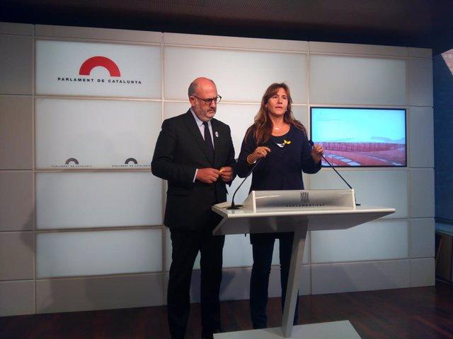 Laura Borràs i Eduard Pujol (JxCat)