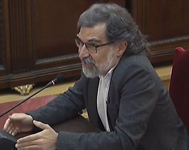 Jordi Cuixart en la darrera sessió del judici del procés al Tribunal Suprem.